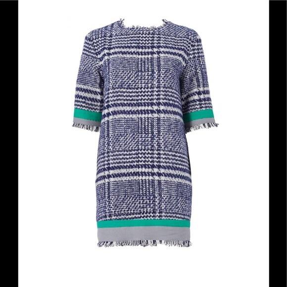 English Factory Dresses & Skirts - English Factory Plaid Boucle Ribbon Trim Dress M